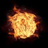 изолированный пожар конструкции компьютера черноты шарика предпосылки Стоковая Фотография RF