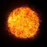 изолированный пожар конструкции компьютера черноты шарика предпосылки Стоковое Изображение RF