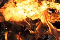 изолированный пожар предпосылки черный Стоковая Фотография