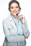 Изолированный портрет бизнес-леди, работника обслуживания клиента C стоковое фото rf