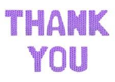 изолированный подарок карточки благодарит белизну вы Пурпур цвета Стоковые Фото