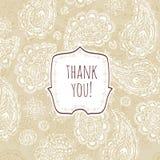 изолированный подарок карточки благодарит белизну вы Стиль карточки винтажный Стоковая Фотография RF