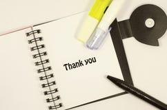 изолированный подарок карточки благодарит белизну вы Стоковое Изображение RF