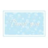 изолированный подарок карточки благодарит белизну вы Стоковое Изображение