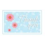 изолированный подарок карточки благодарит белизну вы Стоковая Фотография