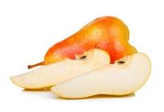 изолированный предпосылкой желтый цвет груши белый Стоковые Фото