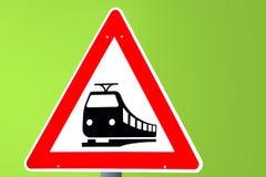 изолированный предпосылкой желтый цвет поезда знака Стоковое Фото