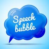 Изолированный пузырь речи вектора голубой Стоковая Фотография RF