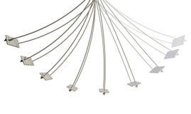 Изолированный путь движения качания веревочки Стоковые Изображения RF