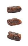 Изолированный плодоовощ высушенной даты Стоковые Изображения