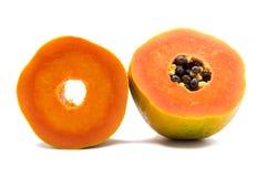Изолированный плодоовощ папапайи стоковое изображение rf