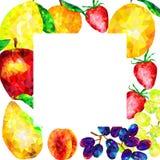 изолированный плодоовощ рамки 3d представляет белизну Стоковое Фото