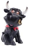 Изолированный резиновый figurine коровы Стоковые Изображения RF
