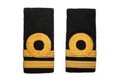 изолированный ряд военно-морского флота лейтенанта Стоковая Фотография RF