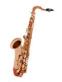 изолированный саксофон Стоковые Фотографии RF