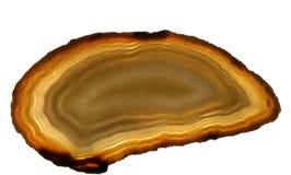 Изолированный самоцвет агата Стоковое фото RF