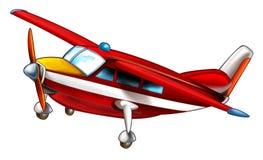 Изолированный самолет пожарного шаржа иллюстрация штока