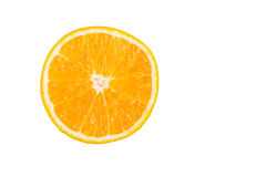 Изолированный свежий половинный оранжевый плодоовощ на белой предпосылке Стоковые Фотографии RF