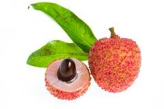 Изолированный свежий плодоовощ lychees Стоковое фото RF