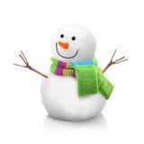 Изолированный снеговик Стоковое фото RF