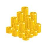 Изолированный стиль шаржа горы евро золота бесплатная иллюстрация
