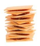 Изолированный стог печенья ананаса Стоковое фото RF