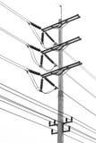 Изолированный столб электричества Стоковое Изображение
