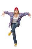 Изолированный танцор женщины Стоковое фото RF