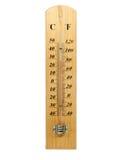 Изолированный термометр Градуса цельсия и Градуса Фаренгейта Стоковые Фото