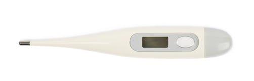 Изолированный термометр цифров пластичный Стоковые Фото