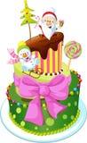 Изолированный торт рождества Стоковые Изображения RF