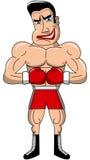Изолированный угрожать боксера сумашедший мышечный бесплатная иллюстрация