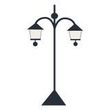 Изолированный фонарик силуэта также вектор иллюстрации притяжки corel Стоковые Фотографии RF