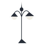 Изолированный фонарик силуэта также вектор иллюстрации притяжки corel Стоковое Фото