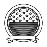 Изолированный флаг США внутри дизайна кнопки Стоковые Изображения