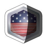 Изолированный флаг США внутри дизайна рамки Стоковое Фото