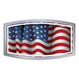 Изолированный флаг США внутри дизайна рамки Стоковые Фотографии RF