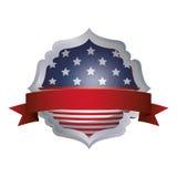 Изолированный флаг США внутри дизайна рамки Стоковое фото RF