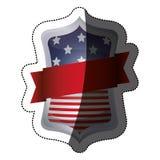 Изолированный флаг США внутри дизайна рамки Стоковые Фото