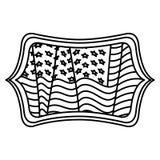 Изолированный флаг США внутри дизайна рамки Стоковая Фотография