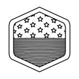 Изолированный флаг США внутри дизайна рамки Стоковая Фотография RF