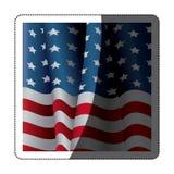 Изолированный флаг США внутри дизайна рамки Стоковые Изображения