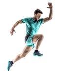 Изолированный ход jogger бегуна человека стоковое фото