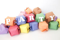 изолированный цвет помечает буквами слово белизны партии monochrom Стоковые Фотографии RF