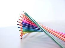 изолированный цвет предпосылки близкий рисовал вверх по белизне Стоковое Изображение RF