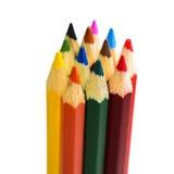изолированный цвет предпосылки рисовал белизну Стоковые Фото