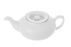 изолированный чайник фарфора Стоковое Фото