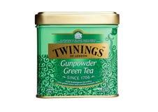 Изолированный чай пороха Twinings зеленый Стоковые Изображения