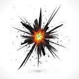Изолированный чернотой взрыв вектора с частицами Стоковые Фотографии RF