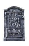 Изолированный черно-белый почтовый ящик Стоковые Изображения RF